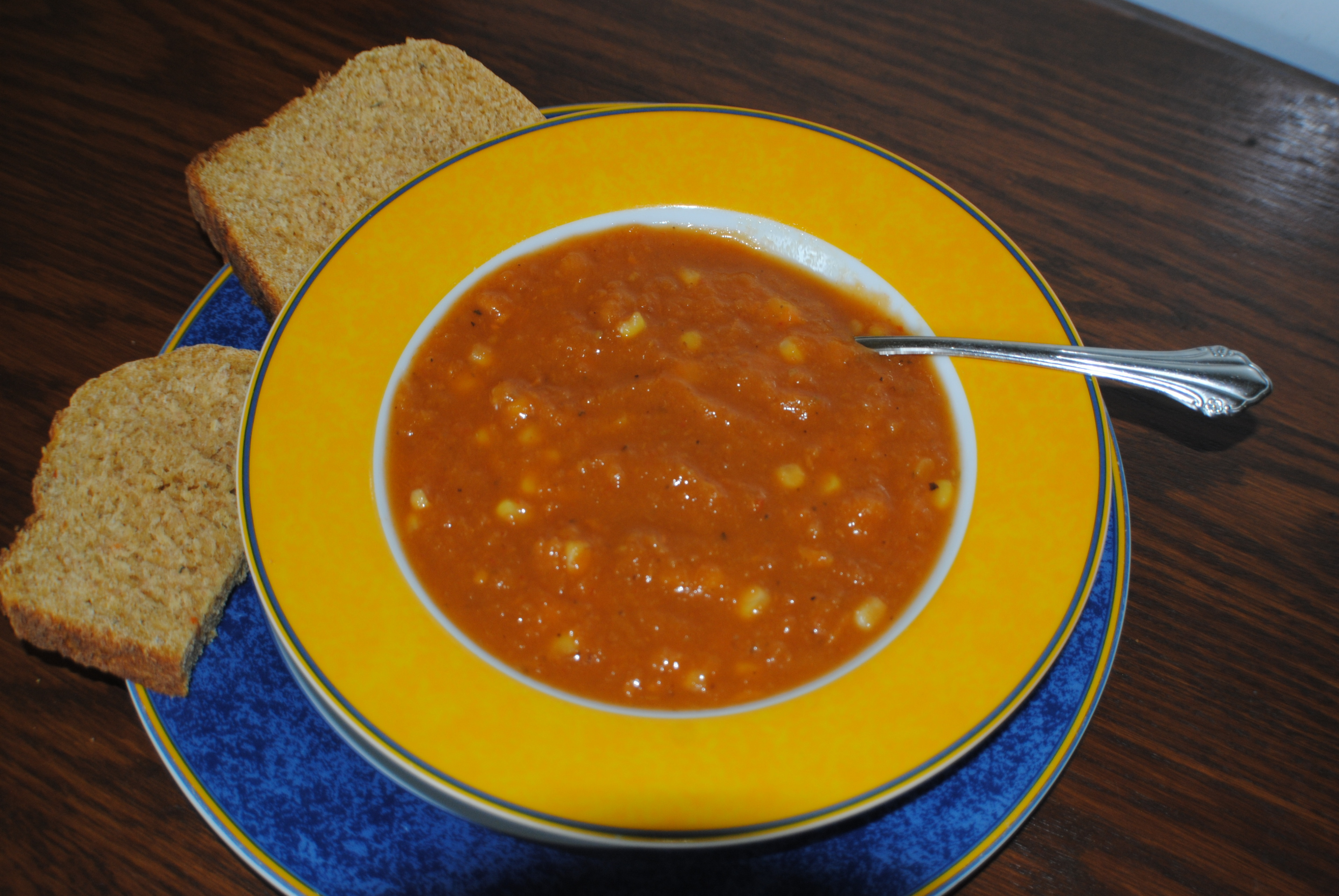 SWEET POTATO, ROASTED RED PEPPER, CORN & JALAPENO PEPPER SOUP